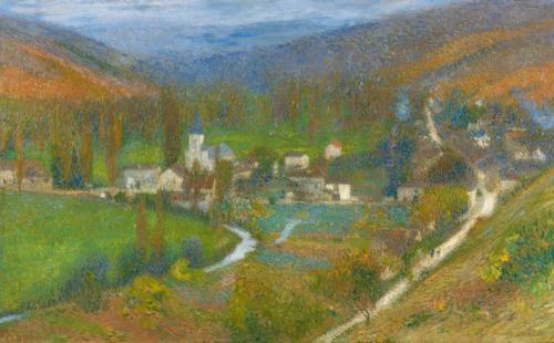 vue generale de labastide du vert du haut du parc de marquayrol by henri jean guillaume martin