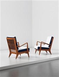 armchairs, model no. 516 (pair) by gio ponti