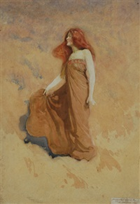 woman (sketch) by frederick william leist