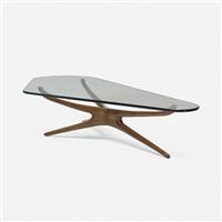 tri-symmetric coffee table by vladimir kagan