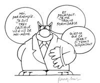 sans titre (for series les aventures du chat) by philippe geluck
