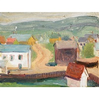 village by the harbor, gaspe by marjorie (jori) elizabeth thurston smith