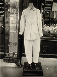 clothes mannequin, rue des gobelains by eugène atget