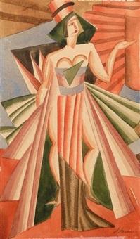 costume pour salomé (design) by alexandra exter