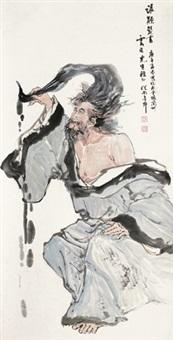 人物 立轴 设色纸本 by ji congnan