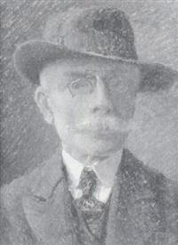 portrait d'homme au chapeau by léon jules alphonse le royer