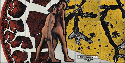 blood and piss in 15 parts by gilbert and george