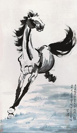 奔马图 horse by xu beihong