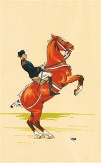 les cavaliers de saumur (pair) by etienne le rallic