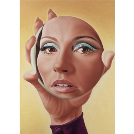 girl and mirror by richard phillips