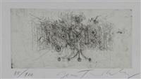 edition spéciale de l'exposition jean tinguely au centre georges pompidou à paris du 6 décembre 1988 au 27 mars 1989 (exhibition catalog w/original print) by jean tinguely