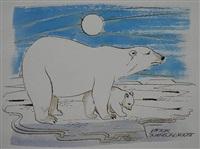 polar bears vii by viktor schreckengost
