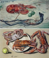 lobster and prawn / crabs (in 2 parts) by liu kang