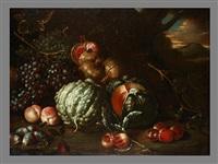 stilleben mit granatäpfeln und früchten by tommaso realfonso