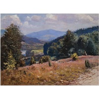 carpathian landscape in summer by joseph bokshai
