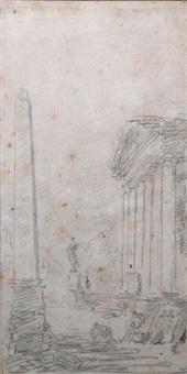 ruines animées by hubert robert