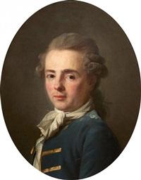 portrait de gentilhomme à la lavallière blanche by henri-pierre danloux
