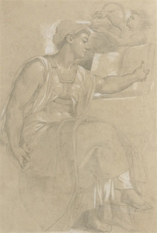 the eritrean sibyl after michelangelo by philipp veit