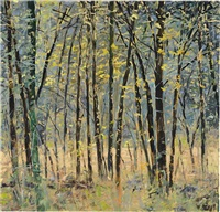 meadow with woods by forrest moses