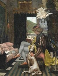 ménestrel dans un intérieur by adolphe david