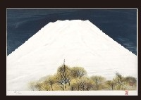white mt. fuji by misao yokoyama