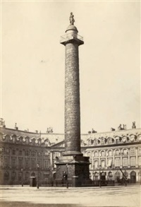 colonne vendôme. gare du nord. jardin des tuileries. puits artésien de grenelle. louvre (12 works) by achille quinet