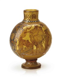 armorial vase by verreries d'art lorrain