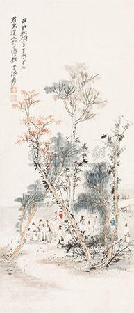 秋禊雅集图 by zhang daqian