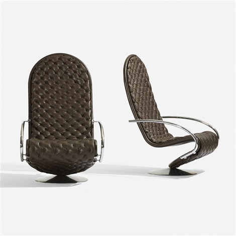 1 2 3 system lounge chairs model f pair by verner panton