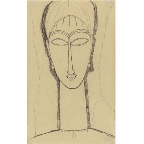 tête de cariatide by amedeo modigliani
