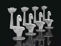 candlesticks (set of 4) by franz hagenauer