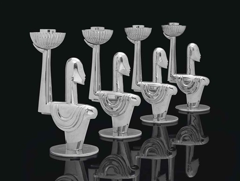 candlesticks set of 4 by franz hagenauer