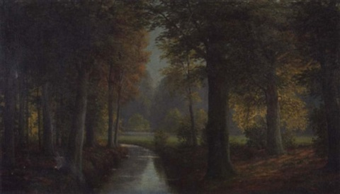 frühherbst im hasbruch by ludwig fischbeck
