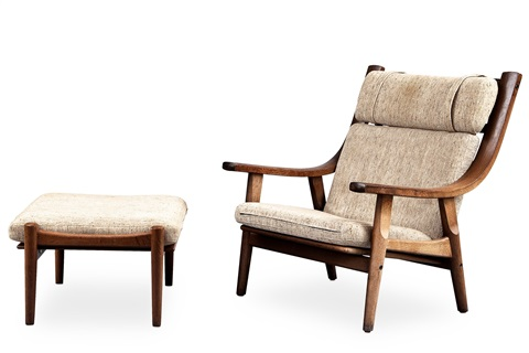 Armchair And Footstool (set Of 2) (ge 530) By Hans J.