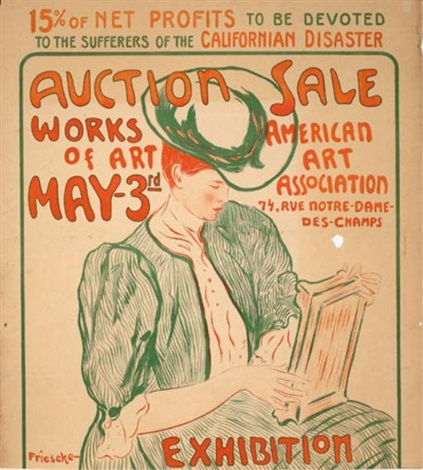 auction sale works of art may 3 rd american art association 74 rue notre dame des champs 15 of net profits to be devoted to the sufferers of the californian disaster by frederick carl frieseke