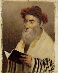 porträt eines rabbiners by franz obermüller