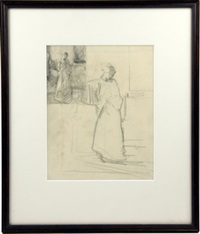 study for 'the windowshade' by joseph de camp
