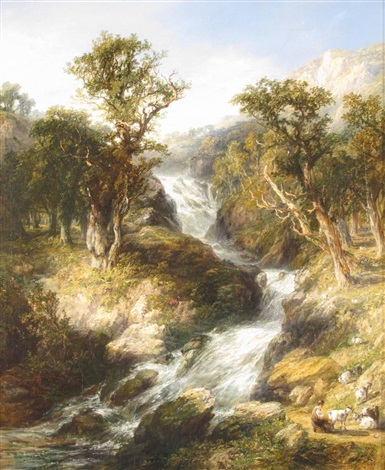 glenfinlas near the trossachs by george blackie sticks