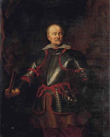 portrait of a gentleman possibly filippo spinola three quarter length in armour by sir anthony van dyck