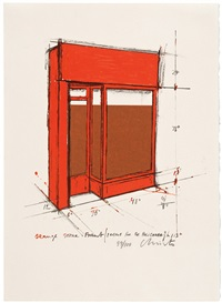 orange store front, project by christo and jeanne-claude
