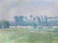 paysage à la meule de foin à giverny by blanche hoschedé-monet