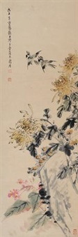 花鸟 by zhang zhengyin