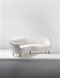 sofa, designed for casa e giardino by gio ponti