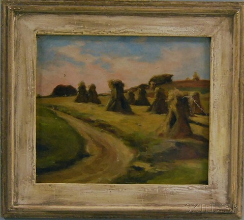 haystacks at concarneau by frank weston benson