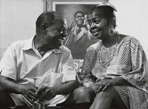 louis armstrong and his wife lucille by eddie adams