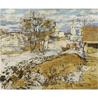 spring landscape by aleksei ilych kravchenko