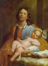 der heilige josef mit dem jesusknaben by ulrich glantschnigg