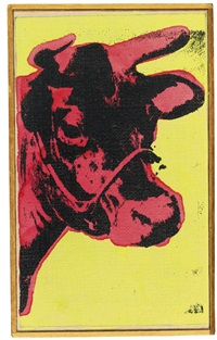 warhol, cow by richard pettibone
