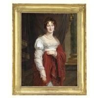 portrait of a lady by antoine jean joseph ansiaux