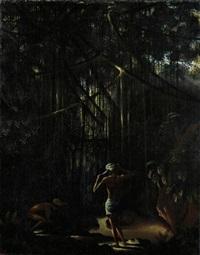 waringin mit zwei jungen baliern (banyan with two young balinese) by walter spies